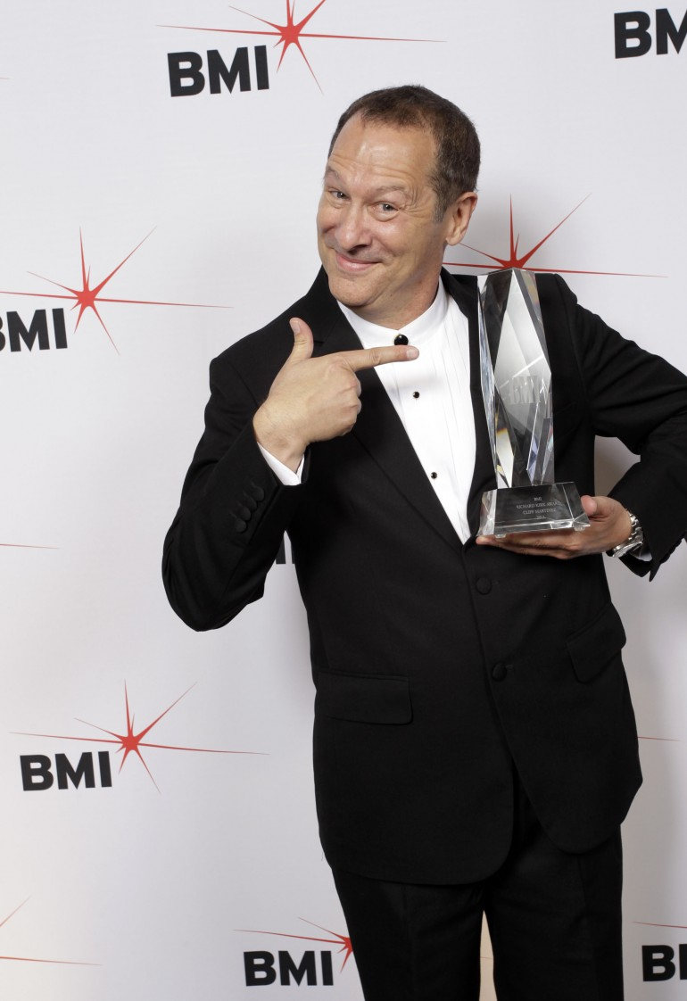 Cliff Martinez with Richard Kirk Career Achievement Award 2013 at BMI Film