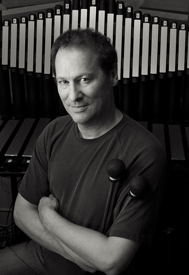 Cliff Martinez with his Gamelan designed by Richard Cooke - photo by Ricardo DeAratanha / Los Angeles Times / Contour by Getty Images